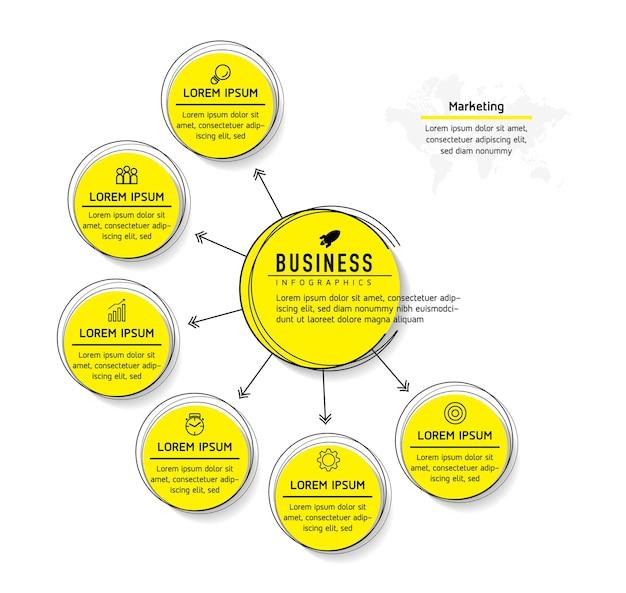 Ilustração modelo de design de infográficos