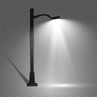 Ilustração moderna brilhante da lâmpada de rua.