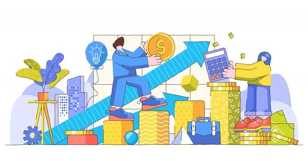 Ilustração moderna criativa de crescimento