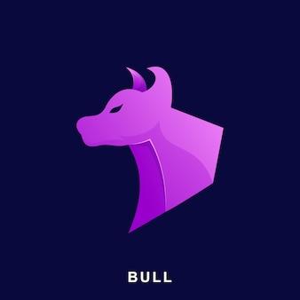 Ilustração moderna de bull roxa