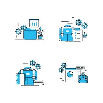 Ilustração moderna do espaço de trabalho