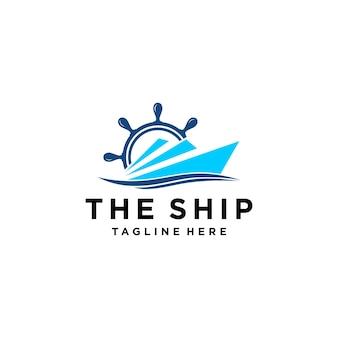 Ilustração moderna simples veleiro dhow navio transporte logo design vector