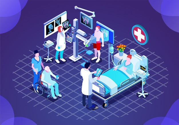 Ilustração moderna tecnologia médica