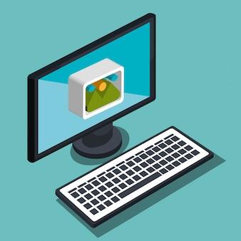 Ilustração moderna tecnologia
