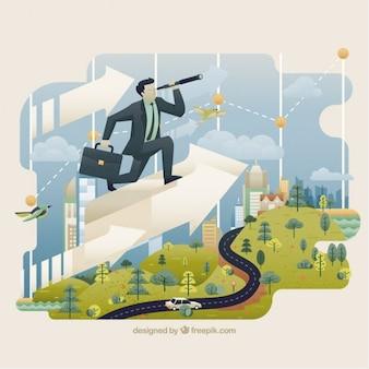Ilustração mundo dos negócios