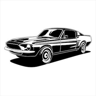 Ilustração muscle car