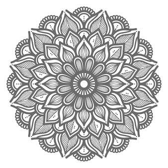 Ilustração natural e bela mandala para o conceito abstrato e decorativo