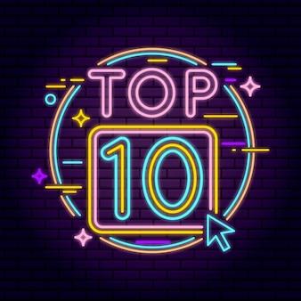 Ilustração neon top 10
