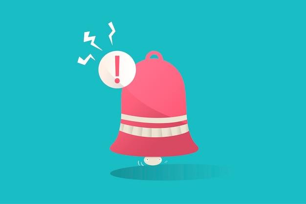 Ilustração, notificação, ícone, azul, fundo