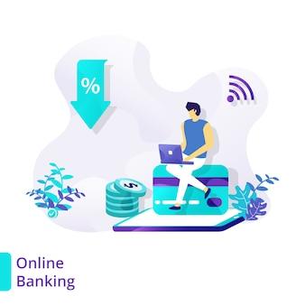 Ilustração online banking