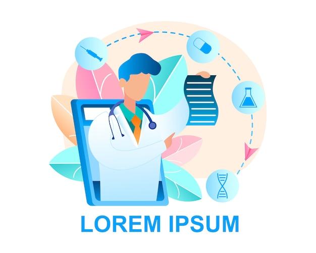 Ilustração online doctor consultation patient