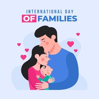 Ilustração orgânica do dia internacional das famílias