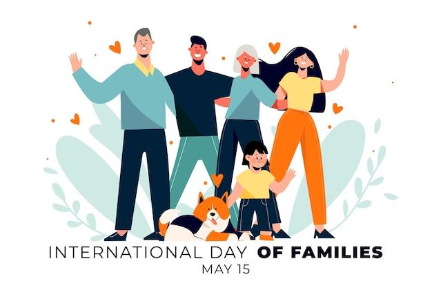 Ilustração orgânica do dia internacional das famílias Vetor grátis