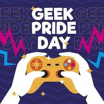 Ilustração orgânica plana do dia do orgulho geek