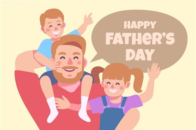 Ilustração orgânica plana feliz dia dos pais
