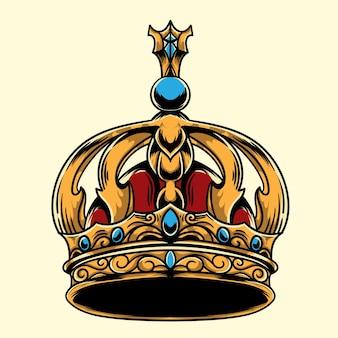 Ilustração ornamentada da coroa real