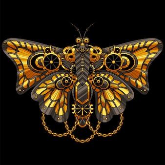 Ilustração ornamental de borboleta