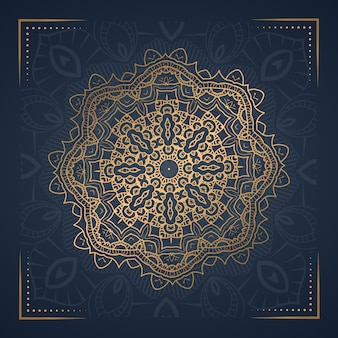 Ilustração ornamental de mandala de ornamento de luxo