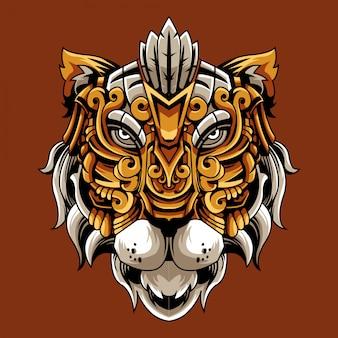 Ilustração ornamental de tigre