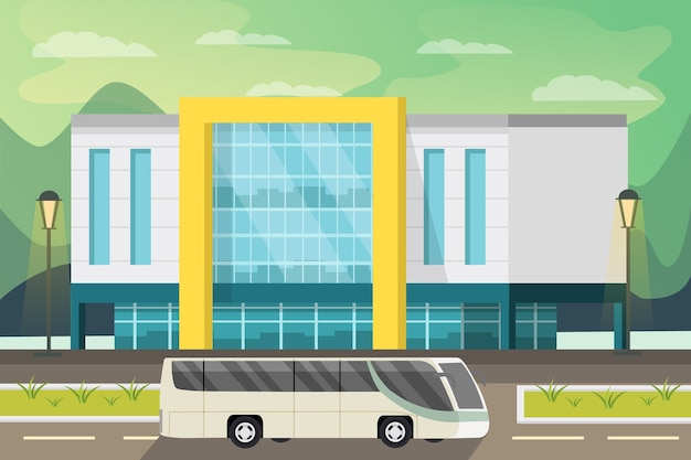 Ilustração ortogonal de shopping center