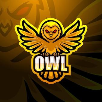 Ilustração owl mascot esport