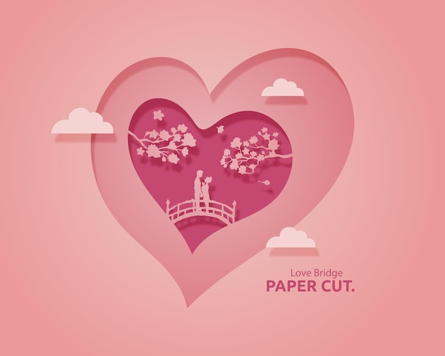 Ilustração papercut