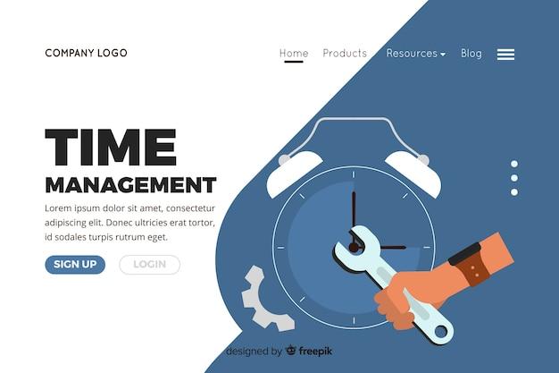 Ilustração para a página de destino com o conceito de gerenciamento de tempo