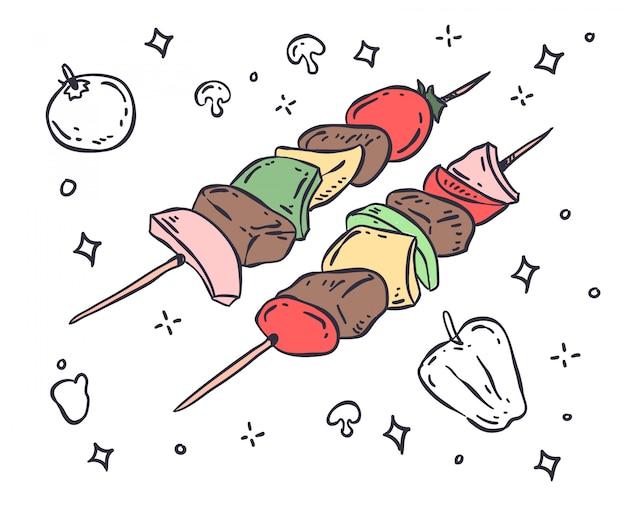 Ilustração para churrasco