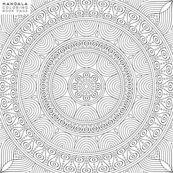 Ilustração para colorir mandala