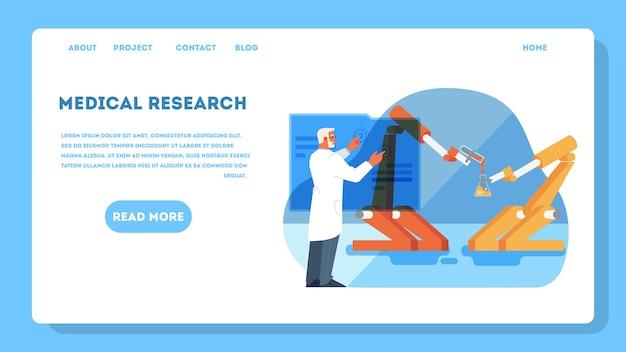 Ilustração para ideia de pesquisa médica e médica inovadora.