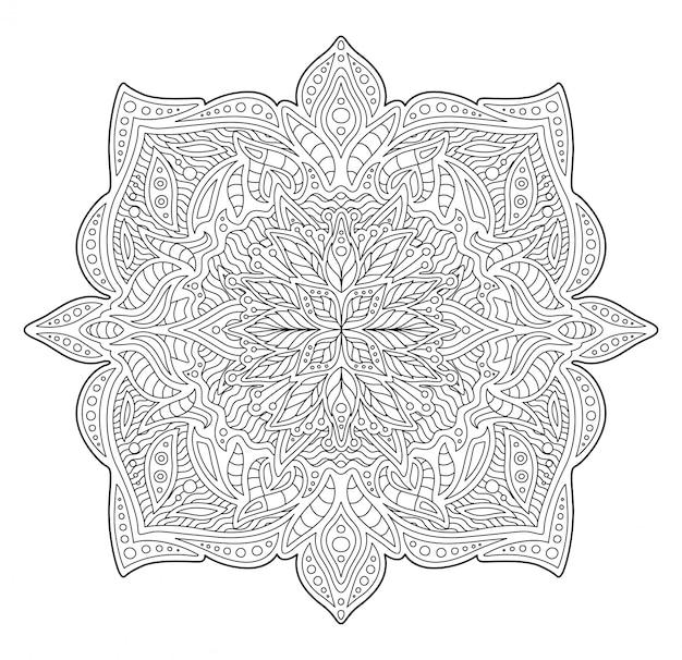 Ilustração para livro de colorir com padrão linear