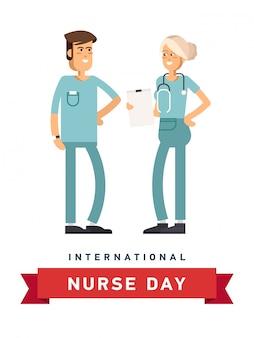 Ilustração para o dia internacional da enfermeira