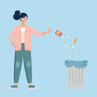 Ilustração para parar de fumar