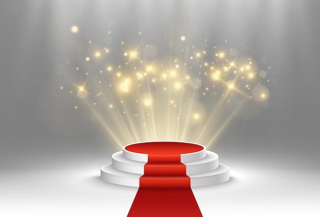 Ilustração para vencedores do prêmio. pedestal ou plataforma para homenagear os vencedores dos prêmios.