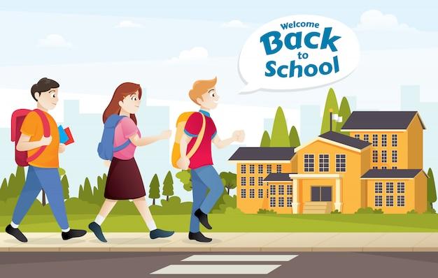 Ilustração para voltar para a escola