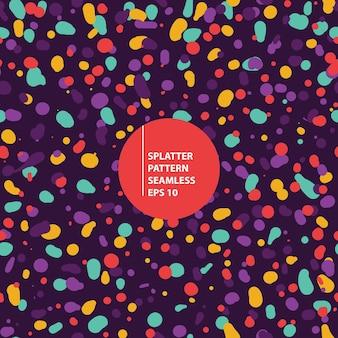 Ilustração perfeita de padrão colorido de respingos