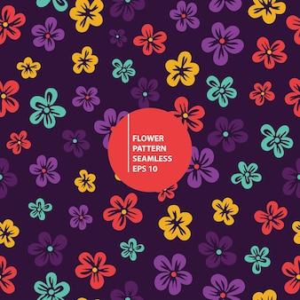 Ilustração perfeita de padrão de flor tropical