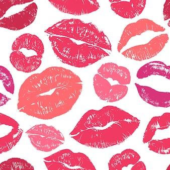 Ilustração perfeita de padrão sem emenda de lábios
