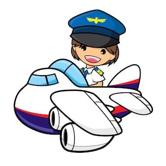 Ilustração piloto do menino