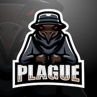 Ilustração plague mascot esport Vetor Premium