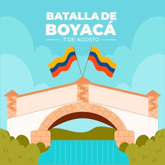 Ilustração plana colombiana batalla de boyaca