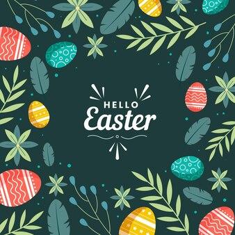 Ilustração plana da celebração da páscoa