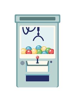 Ilustração plana da máquina de jogo de arcade