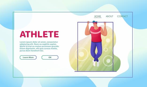 Ilustração plana de atividades esportivas