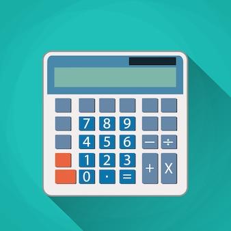 Ilustração plana de calculadora.