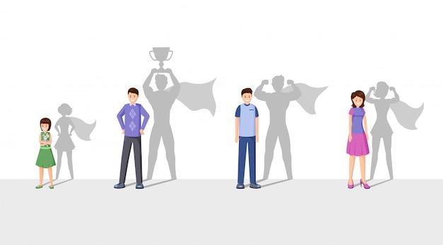 Ilustração plana de campeões