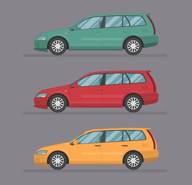 Ilustração plana de design de transporte isolada