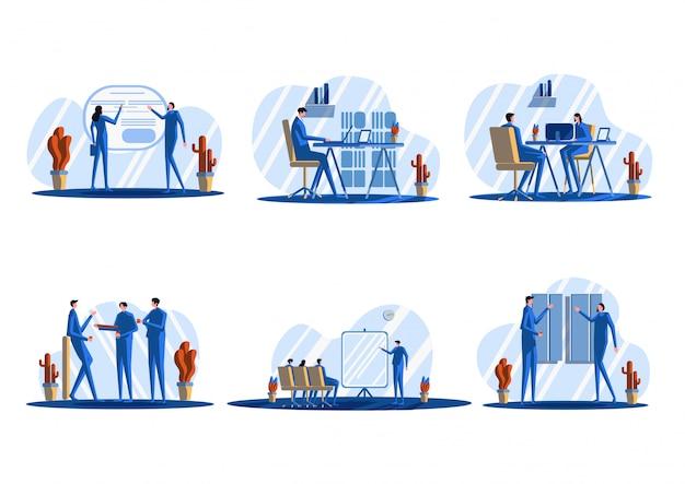 Ilustração plana de escritório