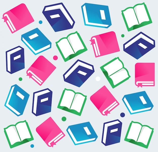 Ilustração plana de livro padrão