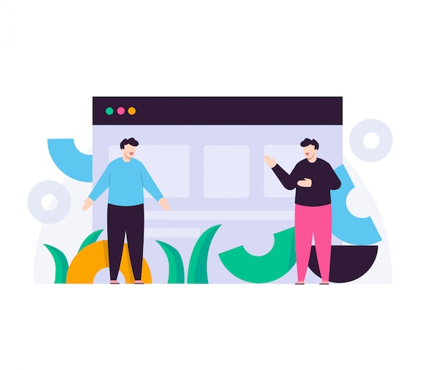 Ilustração plana de negócios homem conceito